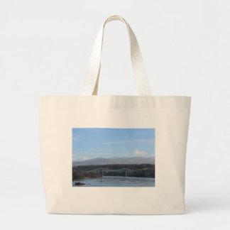Menai Strait Bridge - Anglesey/ Wales Large Tote Bag
