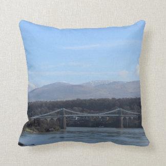 Menai Strait Bridge - Anglesey/ Wales Throw Pillow