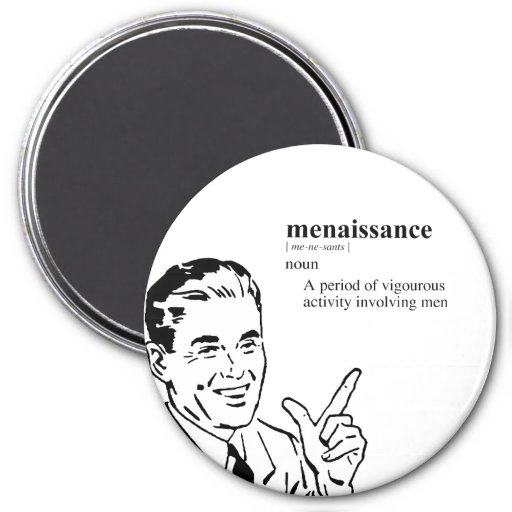 MENAISSANCE 3 INCH ROUND MAGNET