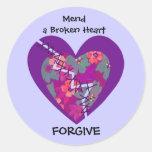 mend a broken heart sticker