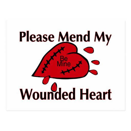 Mend My Wounded Heart Postcard