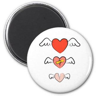 Mended heart magnet
