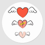 Mended heart stickers