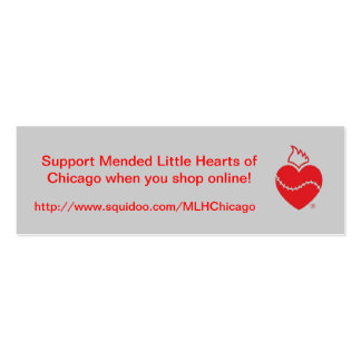 Mended Little Hearts of Chicago Double-Sided Mini Business Cards (Pack Of 20)