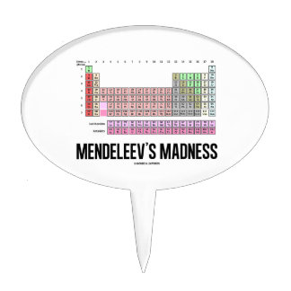 Mendeleev's Madness (Periodic Table Of Elements) Cake Topper