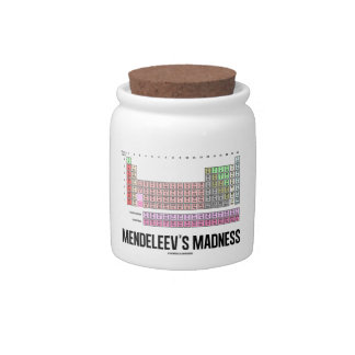 Mendeleev's Madness (Periodic Table Of Elements) Candy Jars
