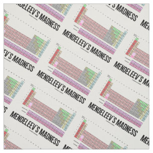 Periodic table elements fabric zazzle mendeleevs madness periodic table of elements fabric urtaz Choice Image