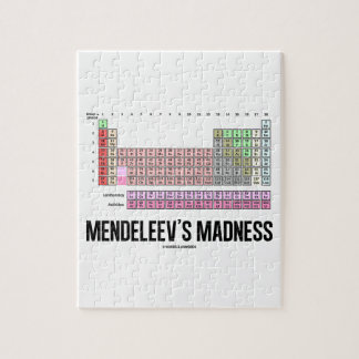 Mendeleev's Madness (Periodic Table Of Elements) Jigsaw Puzzle