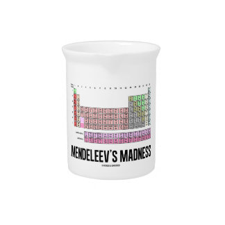 Mendeleev's Madness (Periodic Table Of Elements) Beverage Pitcher