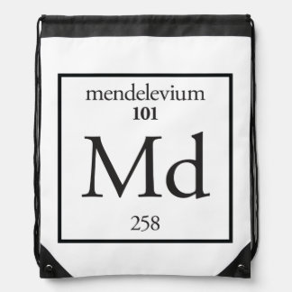 Mendelevium Drawstring Bag