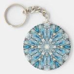 Mendenhall Glacier Mandala Keychain