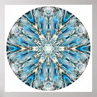 Mendenhall Glacier Mandala Print