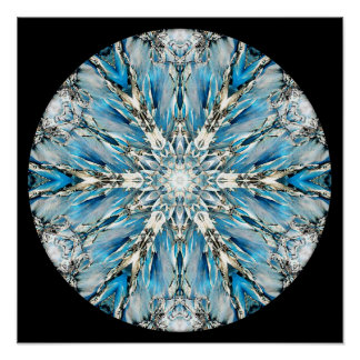 Mendenhall Glacier Mandala Poster/ Print