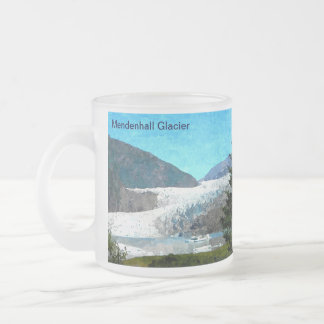 Mendenhall Glacier 10 Oz Frosted Glass Coffee Mug