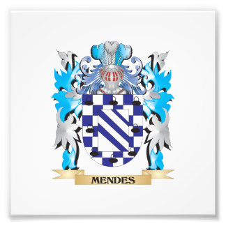 Mendes Coat of Arms - Family Crest Art Photo