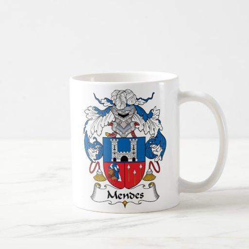 Mendes Family Crest Coffee Mug