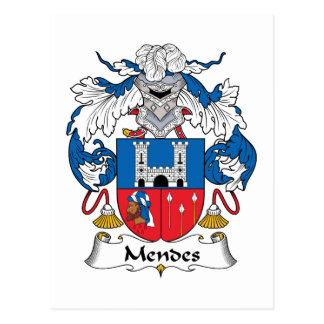 Mendes Family Crest Post Card