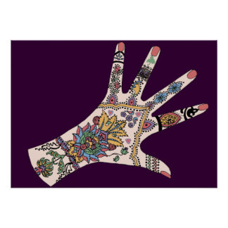 Mendhi hands poster