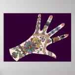 Mendhi hands posters