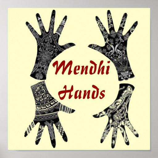 Mendhi Hands Print