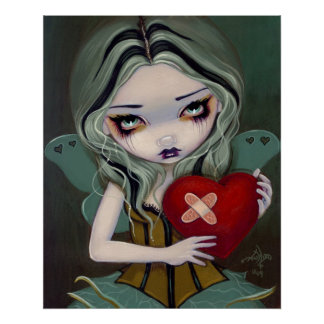 Mending a Broken Heart gothic fairy Art Print