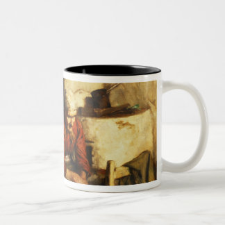 Mending Clothes Two-Tone Coffee Mug