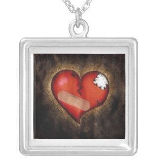 MENDING HEART SILVER PLATED NECKLACE