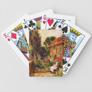 Mending in a Cottage Garden Bicycle Playing Cards