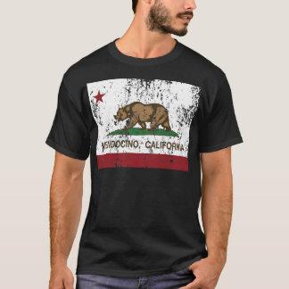 mendocino de la bandera de California apenado Playera