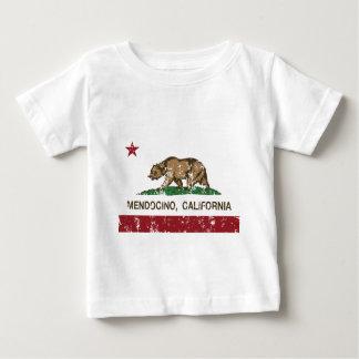 mendocino de la bandera de California apenado Playera De Bebé