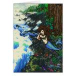 """""""Mendocino Mermaid"""" Fairy Fantasy Coast Card"""