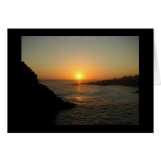 Mendocino Sunset Card