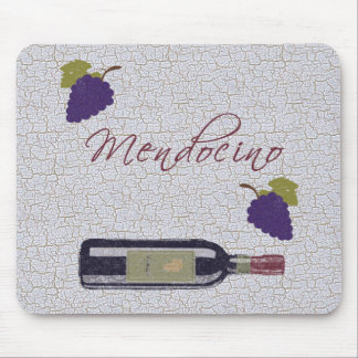 Mendocino Vintage Wine Mouse Pad