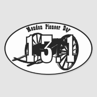 pioneer day clipart. mendon pioneer day handcart 1/2 official decal oval sticker clipart