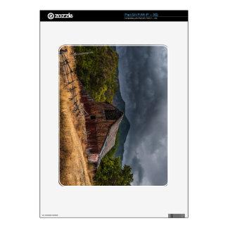 Mendon Utah Red Barn In Storm Skins For iPad