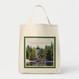 Mendota (Bete Grise) Lighthouse - Grocery Tote