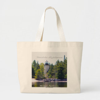 Mendota (Bete Grise) Lighthouse - Large Tote