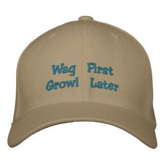 Menee el casquillo posterior 2 del primer gruñido gorra de béisbol