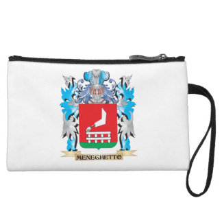 Meneghetto Coat of Arms - Family Crest Wristlet Purses