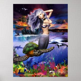 Menehune Mermaid Poster