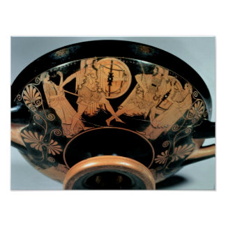 Menelaos, accompanied by Aphrodite Poster