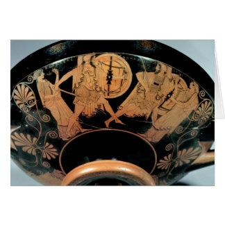 Menelaos, acompañado por el Aphrodite Tarjeta De Felicitación