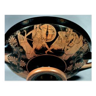 Menelaos, acompañado por el Aphrodite Tarjetas Postales