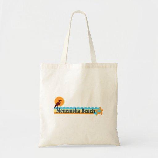 Menemsha Beach - Beach Design. Budget Tote Bag