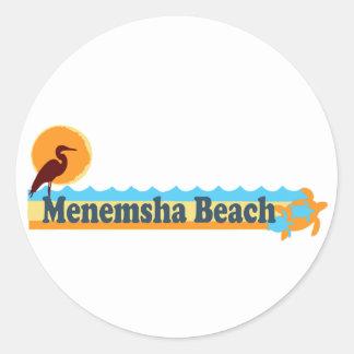 Menemsha Beach - Beach Design. Classic Round Sticker