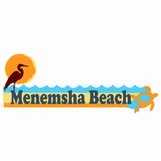 Menemsha Beach - Beach Design. Photo Sculpture Button