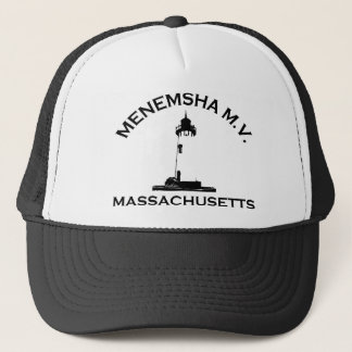 Menemsha Beach - Lighthouse Design. Trucker Hat