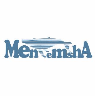 Menemsha Beach - Whale Design. Photo Sculpture Button