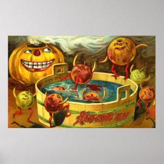 Meneo de Halloween Apple Póster