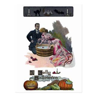 Meneo para las manzanas el Halloween Postal